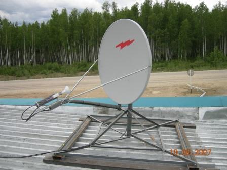 Оборудование HughesNet, установленное в п.Уруша